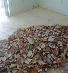Green Guys Junk Removal provides tile removal in venice fl